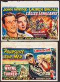 """Movie Posters:War, The Sea Chase & Other Lot (Warner Brothers, 1955). Belgians (2)(14.75"""" X 21.5""""). War.. ... (Total: 2 Items)"""