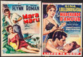 "Movie Posters:Adventure, Mara Maru & Other Lot (Warner Brothers, 1954). Trimmed Belgians(2) (14"" X 18.5"" & 14"" X 19.5""). Adventure.. ... (Total: 2Items)"