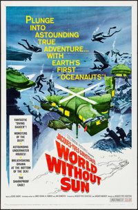 """World without Sun (Columbia, 1964). One Sheet (27"""" X 41"""") & Pressbook (11"""" X 17""""). Documentary..."""