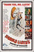 "Movie Posters:Comedy, Harold Lloyd's World of Comedy (Continental, 1962). One Sheet (27"" X 41""), Pressbook & Partial Pressbook (11"" X 17). Comedy.... (Total: 3 Items)"