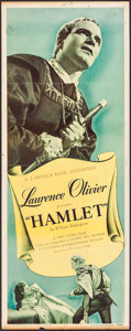 "Movie Posters:Academy Award Winners, Hamlet & Other Lot (Universal International, 1949). Insert (14"" X 36"") & Photo (8"" X 10""). Academy Award Winners.. ... (Total: 2 Items)"