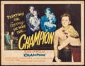 "Movie Posters:Sports, Champion (United Artists, 1949). Half Sheet (22"" X 28"") Style A. Sports.. ..."