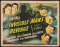 """Movie Posters:Horror, The Invisible Man's Revenge (Universal, 1944). Half Sheet (22"""" X 28""""). Horror.. ..."""