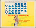 """Movie Posters:Foreign, Never on Sunday & Other Lot (Lopert, 1960). Half Sheets (2) (22"""" X 28""""). Foreign.. ... (Total: 2 Items)"""