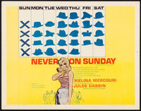 """Never on Sunday & Other Lot (Lopert, 1960). Half Sheets (2) (22"""" X 28""""). Foreign. ... (Total: 2 Items)"""