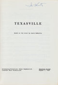 Books:Fiction, [Screenplay]. Larry McMurtry and Peter Bogdanovich. Screenplay forTexasville. [Hollywood]: 1989. Late draft pho...