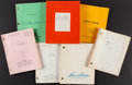 Books:Literature 1900-up, [Screenplays]. Group of Six Photocopied Screenplays. [Variousplaces: dates]. Various drafts, one signed by screenwriter, St...(Total: 7 Items)