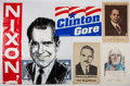 Political:Civil War, Campaign Posters for: James Cox, Richard Nixon, James Dewey, and Clinton/Gore. Together with and FDR Memorial Print....