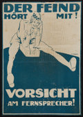Military & Patriotic:WWI, [World War I]. German Propaganda Poster, Together with 4 Newspapers from 1918....