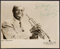 Autographs, Louis Armstrong Inscribed and Signed Photograph. ...