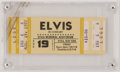 Miscellaneous, Elvis Presley Concert Ticket for a Concert in 1977 Scheduled ThreeDays After his Death. ...