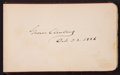 Autographs:U.S. Presidents, Grover Cleveland Signature...