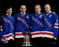 Hockey Collectibles:Photos, New York Rangers Legends Multi Signed Oversized Photograph....