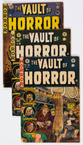 Golden Age (1938-1955):Horror, Vault of Horror Group of 15 (EC, 1950-54) Condition: Average GD....(Total: 15 Comic Books)