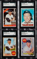 Baseball Cards:Lots, 1966-69 Topps Mickey Mantle SGC Graded Collection (4)....