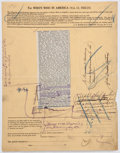 Autographs:U.S. Presidents, William H. Taft Handwritten Notes on a Printed Form ...