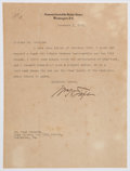 Autographs:U.S. Presidents, William H. Taft Typed Letter Signed. ...