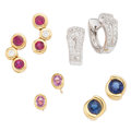 Estate Jewelry:Rings, Diamond, Multi-Stone, Gold Earrings. ... (Total: 8 Items)