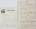Autographs:Statesmen, Horatio Seymour Autograph Letter Signed as Governor of New York....(Total: 2 Items)