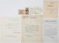 Autographs:Statesmen, American Statesmen Group Lot of Five Letters:. ... (Total: 7 Items)