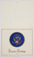 Autographs:U.S. Presidents, Dwight and Mamie Eisenhower Signed 1958 Christmas Card....