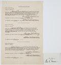 Autographs:U.S. Presidents, Harry Truman Twice Signed Affidavit of Worth.... (Total: 2 Items)