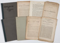 Military & Patriotic:Civil War, Civil War: Group of Eight Pamphlets.... (Total: 8 Items)