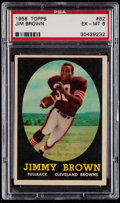 Football Cards:Singles (1950-1959), 1958 Topps Jim Brown #62 PSA EX-MT 6....