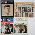 Political:Memorial (1800-present), John F. Kennedy: Assassination Newspaper and Magazines.... (Total: 4 Items)