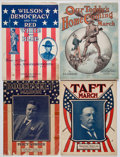 Political:Small Paper (1896-present), Theodore Roosevelt et al: Campaign Sheet Music.... (Total: 4 Items)