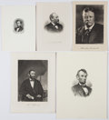 Political:Small Paper (1896-present), Abraham Lincoln et al: Presidential Engravings....