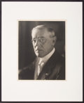 Political:Small Paper (1896-present), Woodrow Wilson: Arnold Genthe Portrait....