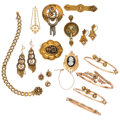 Estate Jewelry:Lots, Victorian Diamond, Multi-Stone, Enamel, Gold, Gold-Filled Jewelry. ... (Total: 15 Items)