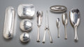 Silver & Vertu:Hollowware, Ten Anezin Hermanos y Compañia Art Deco Silver-Plated Vanity Items, Buenos Aires, Argentina, first half 20th century. Marks:... (Total: 10 Items)