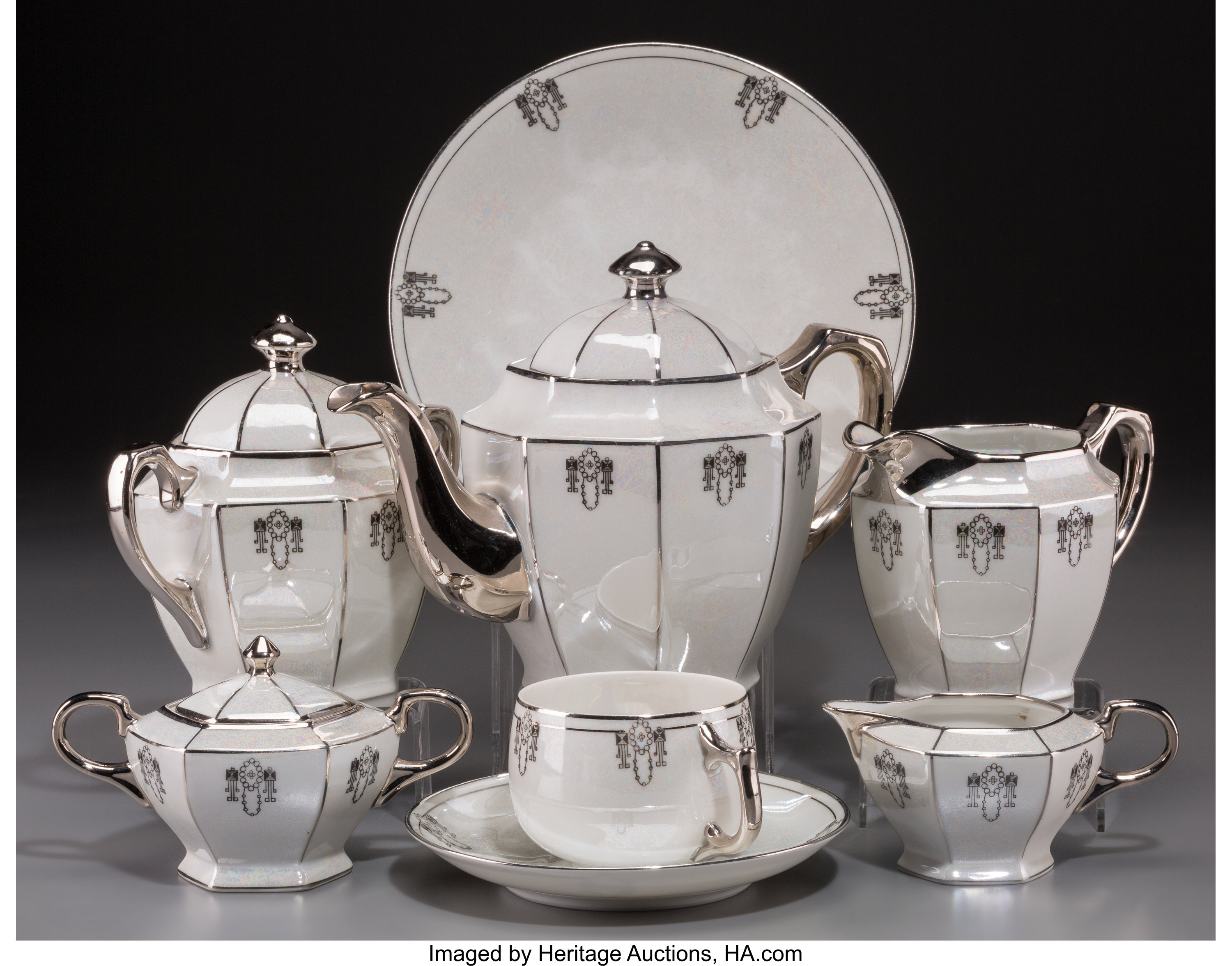 A Twenty-Three Piece Assembled German Art Deco Lustreware Ceramic | Lot  #21150 | Heritage Auctions