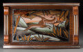 Decorative Arts, Continental, Two Art Deco Wood and Glass Trays, first half 20th century. Marks:DOPE. 13-1/2 x 19-1/2 inches (34.3 x 49.5 cm) (larger...(Total: 2 Items)