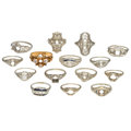 Estate Jewelry:Rings, Diamond, Synthetic Sapphire, Enamel, Gold Semi-Mount Rings. . ...(Total: 15 Items)
