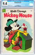 Golden Age (1938-1955):Funny Animal, Mickey Mouse #33 (Dell, 1954) CGC NM 9.4 Off-white to whitepages....