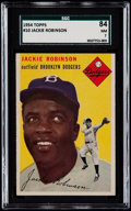 Baseball Cards:Singles (1950-1959), 1954 Topps Jackie Robinson #10 SGC 84 NM 7....