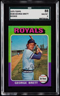 Baseball Cards:Singles (1970-Now), 1975 Topps George Brett #228 SGC 88 NM/MT 8....