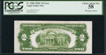 Error Notes:Ink Smears, Green Ink Smear Fr. 1504 $2 1928C Legal Tender Note. PCGS ChoiceAbout New 58.. ...