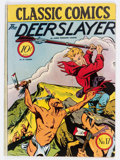 Golden Age (1938-1955):Classics Illustrated, Classic Comics #17 The Deerslayer - Original Edition (Gilberton,1944) Condition: Apparent VG/FN....