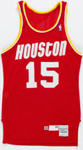 Basketball Collectibles:Others, 1988 Frank Johnson Game Worn Houston Rockets Jersey....