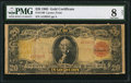 Large Size:Gold Certificates, Fr. 1180 $20 1905 Gold Certificate PMG Very Good 8 Net.. ...