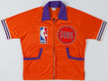 Basketball Collectibles:Uniforms, Circa 1980's Game Worn Phoenix Suns Warm Up Jacket. ...