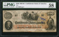 "Confederate Notes:1862 Issues, Issued ""Nov. 62 Major J(ames) F. Cummings"" T41 $100 1862 PF-15 Cr.316.. ..."