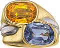 Estate Jewelry:Rings, Sapphire, Gold Ring, Giovane. ...