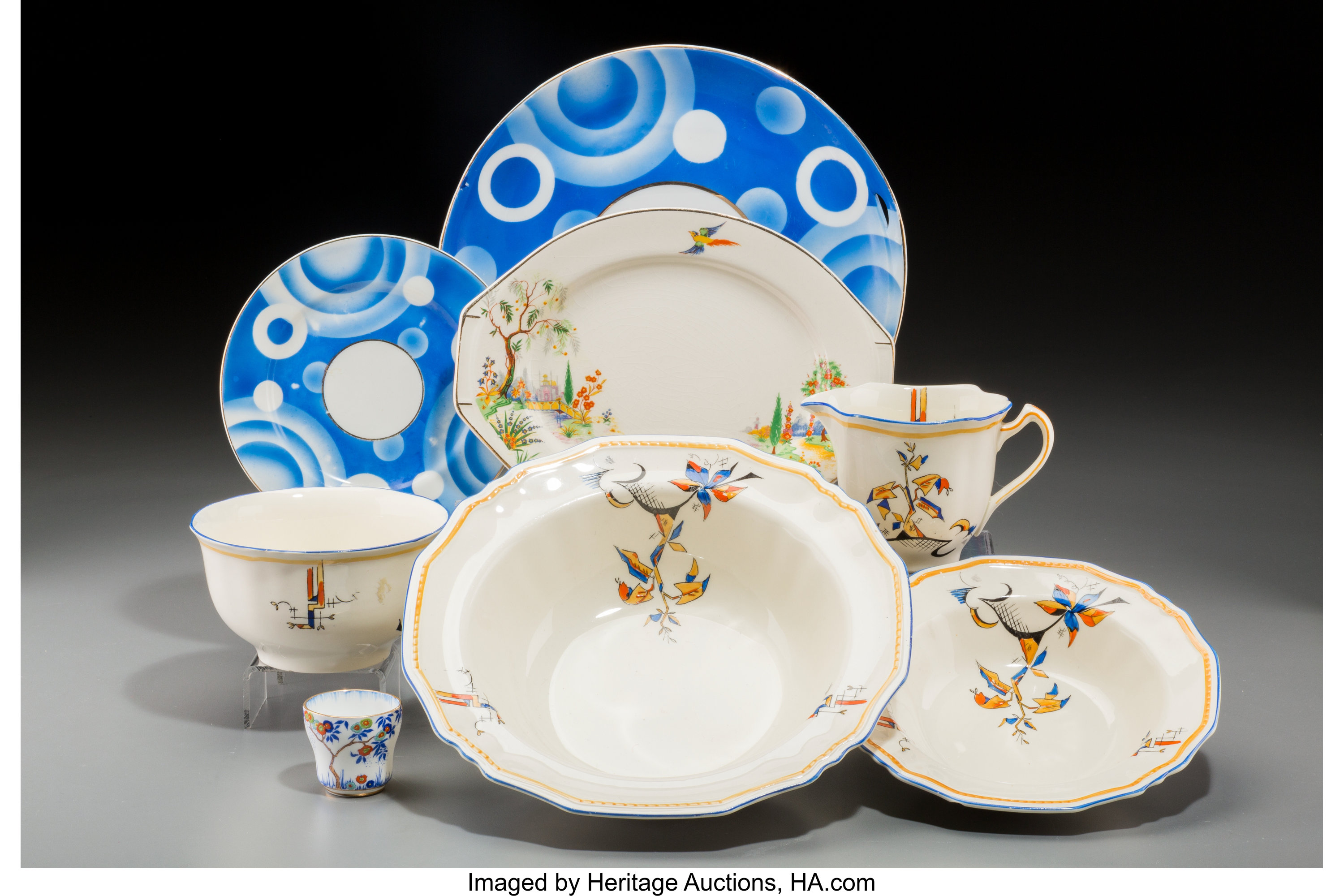 Twenty One Pieces Of Art Deco Ceramic Dinnerware Circa 1925 1940 Lot 65477 Heritage Auctions