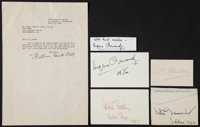 Composers and Conductors, Five signatures and 1 Typed Letter Signed