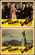 """Movie Posters:Horror, King Kong (RKO, R-1942). Lobby Cards (2) (11"""" X 14"""").. ... (Total:2 Items)"""